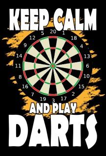 Blechschild Keep calm and play darts Metallschild 20x30 Deko tin sign
