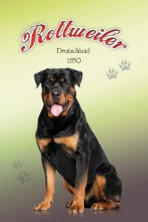 Schatzmix Blechschild Rottweiler Deutschland 1850 Hund Metallschild 20x30 cm Wanddeko tin sign