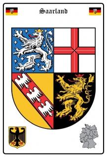 Saarland wappen blechschild