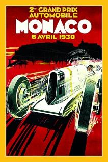 Formel 1 Grand Prix Monaco 1930 Autorennen blechschild