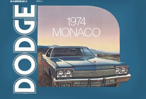 Dodge 1974 Monaco blechschild