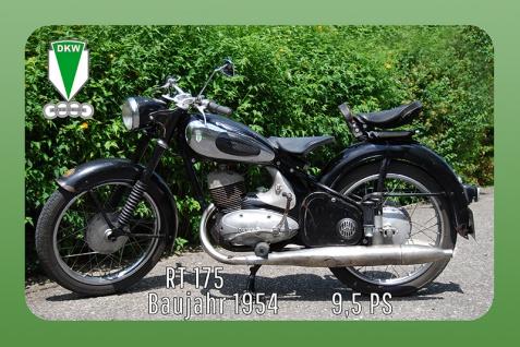 DKW RT 175 1954 9.5PS motorrad, motor bike, motorcycle blechschild