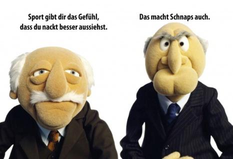 Blechschild Spruch Muppets Sport gibt dir Gefühl Metallschild Wanddeko 20x30 cm tin sign