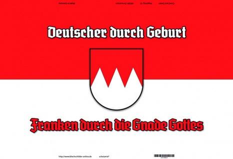 """"""" Deutsche durch geburt, Franken durch Gnade Gottes"""" Köln blechschild"""