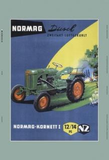 Normag Kornett I 12/14 PS zwei takt lufgekühlt traktor trekker schlepper blechschild