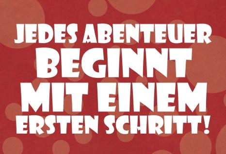 Blechschild Spruch Jedes Abenteuer Metallschild Wanddeko 20x30 cm tin sign