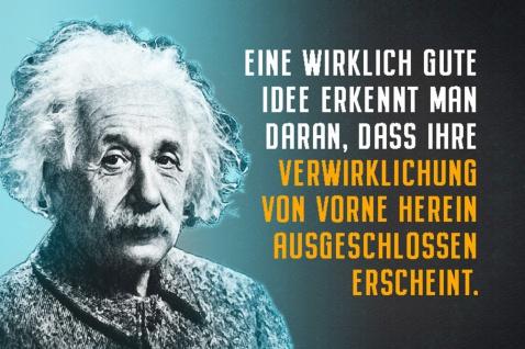 Blechschild Spruch Einstein Wirklich gute Idee Metallschild Wanddeko 20x30 cm tin sign