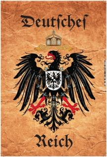 Deutsches Reich Wappen (Pergament) Blechschild 20x30
