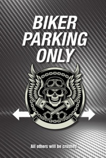 Biker Parking only blechschild, parkschild, tin sign, metallschild, deko,