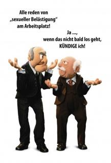 Blechschild Spruch Waldorf & Statler sexuelle Belästigung Metallschild Wanddeko 20x30 cm tin sign