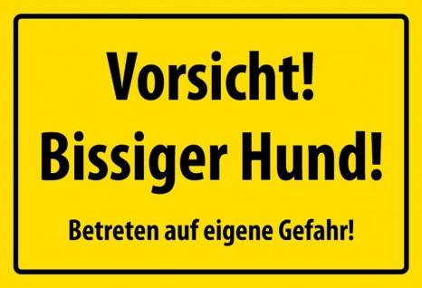 Warnschild: Vorsicht bissiger Hund Metallschild Wanddeko 20x30 cm tin sign