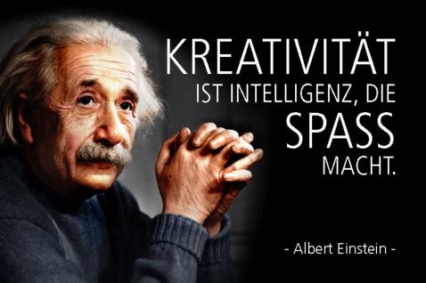 Blechschild Spruch Einstein Kreativität ist Intelligenz Metallschild Wanddeko 20x30 cm tin sign