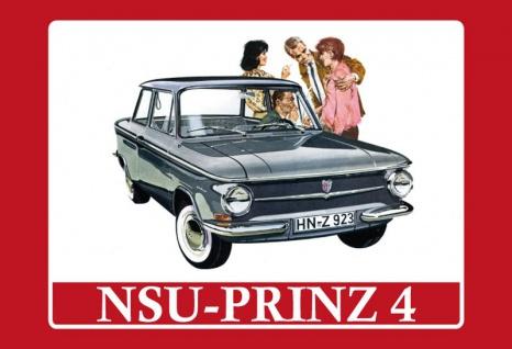 "NSU Prinz 4"" blechschild"