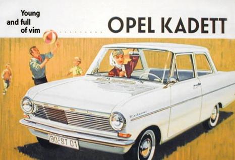 Opel Kadett blechschild