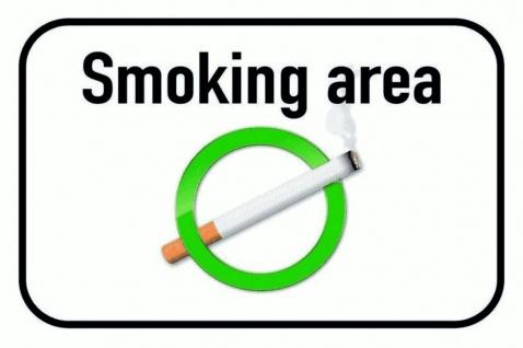 Hinweisschild: Smoking Area (Rauchen erlaubt) Blechschild 20x30 cm