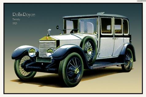 Rolls Royce Twenty 1925 Blau auto classic blechschild