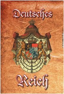 Deutsches Reich Wappen Blechschild 20x30cm