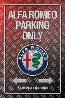Alfa Romeo Parking only Metallic blechschild