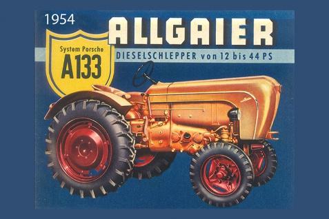 Allgaier A133 dieselschlepper tracktor trekker blechschild