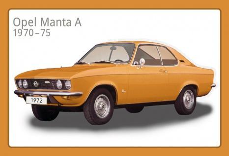 Opel Manta A 1970-75 auto blechschild