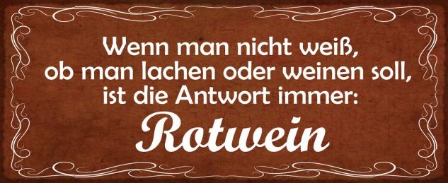 Blechschild Spruch Wenn man nicht weiß, ob man lachen oder weinen soll Metallschild Wanddeko 27x10 cm tin sign