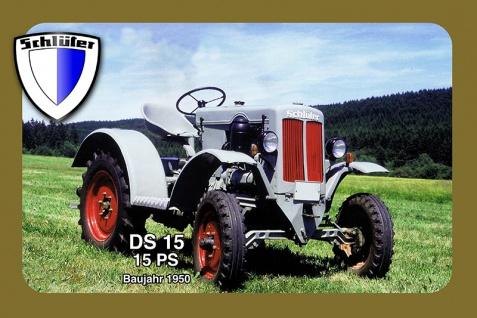 Schlüter DS15 15PS 1950 tracktor trekker blechschild