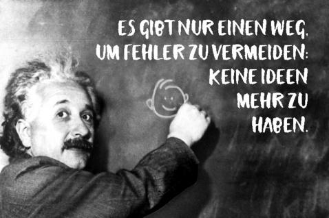 Blechschild Spruch Es gibt einen Weg Fehler Einstein Metallschild Wanddeko 20x30 cm tin sign