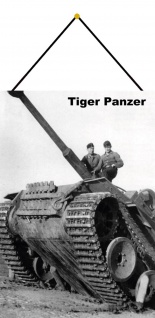 Blechschild Militär Tiger Panzer Weltkrieg Metallschild Deko 20x30 mit Kordel