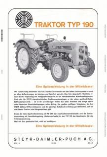 Steyr 190 traktor Trekker Schlepper blechschild