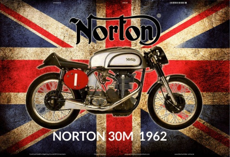Norton 30M 1962 UK motorrad blechschild