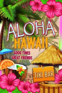 Aloha Hawaii Tiki bar blechschild