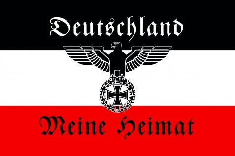 Deutschland meine Heimat mit adler blechschild