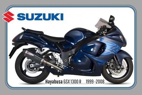 Suzuki Hayabusa GSX1300R 1999-2008 175PS motorrad, motor bike, motorcycle blechschild
