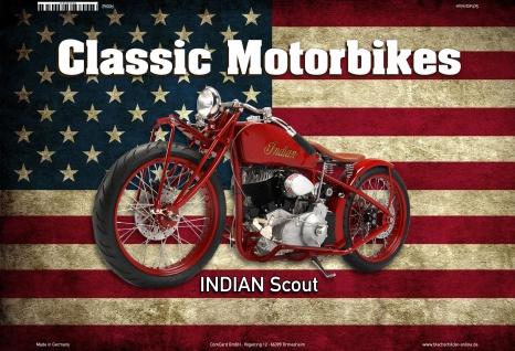 Indian Scout USA Classic Motorrad Blechschild