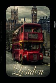 london Bus, Big Ben, Westminster, Parliament blechschild