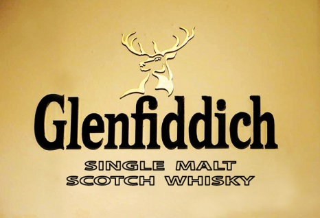Glenfiddich Single Malt Scotch Whisky golden etikett alkohol blechschild