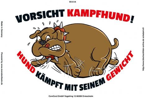 """"""" Vorsicht Kampfhund..."""" blechschild, lustig, comic, metallschild"""