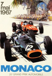 Retro: Grand Prix Monaco 1967 Blechschild 20x30 cm
