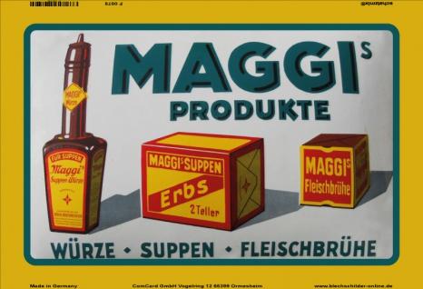 Maggi produkte würze suppen brühe reklame blechschild
