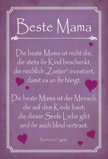 Blechschild Beste Mama Metallschild Wanddeko 20x30 cm tin sign