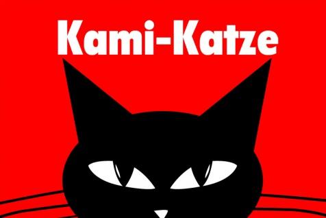 Kami-Katze Blechschild comic lustig kater