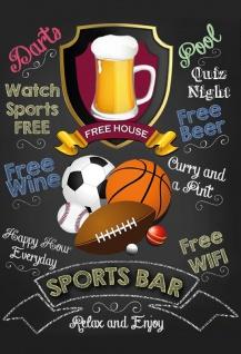 Sports Bar - relax and enjoy Blechschild 20x30 cm