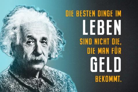 Blechschild Spruch Die besten Dinge im Leben A.Einstein Metallschild Wanddeko 20x30 cm tin sign