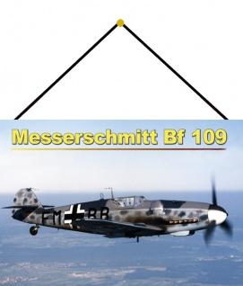 Blechschild Flugzeug Messerschmitt BF109 Luftwaffe Metallschild 20x30 mit Kordel