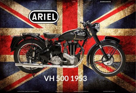 Ariel VH 500 1953 UK motorrad blechschild