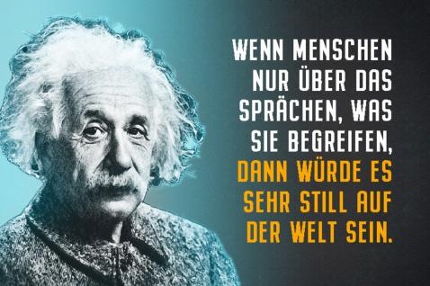 Blechschild Spruch Einstein Würde die Menschheit nur Metallschild Wanddeko 20x30 cm tin sign