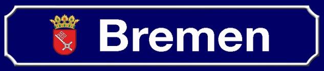 Bremen strassenschild stadt Bundesland mit Wappen blechschild 46x10cm