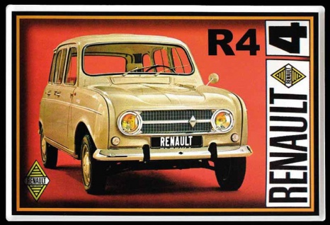 Renault R4 oldtimer blechschild