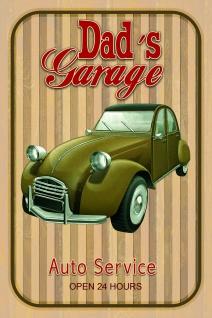 Dads garage auto service blechschild