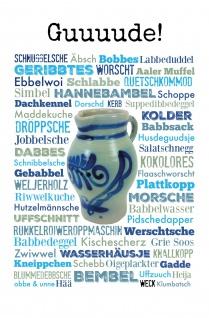 Blechschild Spruch FußbGuuuude! Metallschild 20x30cm Wanddeko tin sign
